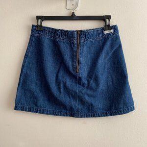 Brandy Melville Zip up denim skirt